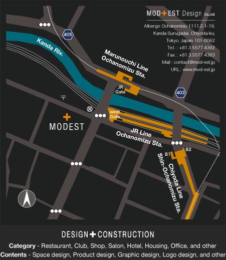 モデストデザイン株式会社へのmap